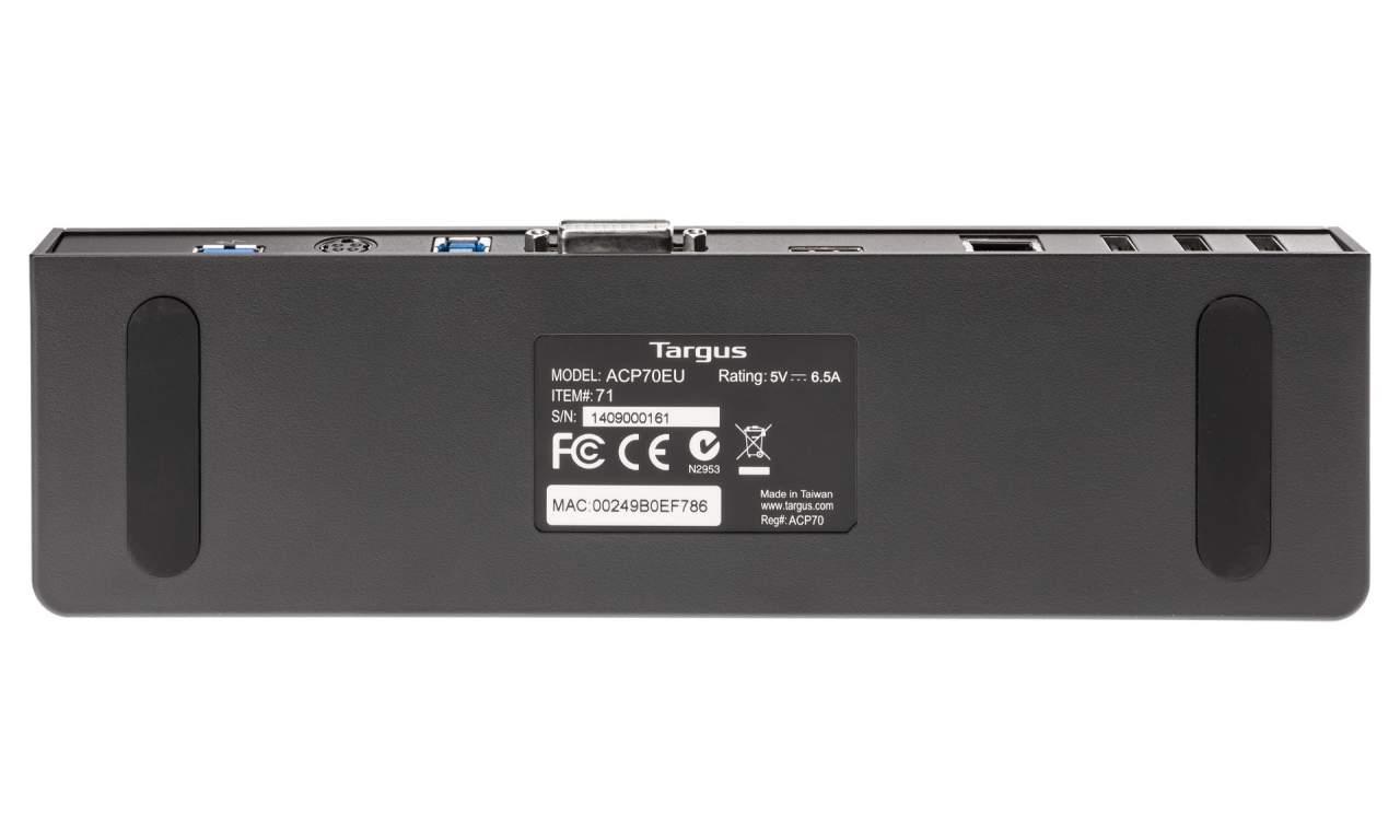 STACJA DOKUJĄCA TARGUS ACP70EU USB 3.0 SUPERSPEED